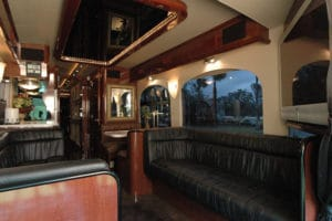 Inside of coach